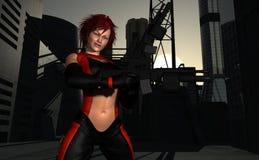 Warrior woman Stock Image