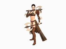 Warrior woman Stock Image