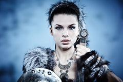 Warrior woman. Royalty Free Stock Images