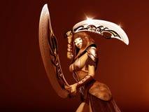 Warrior woman. 3d render of a female warrior Stock Photos