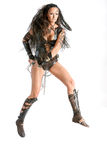 Warrior woman - Amazons. In Greek mythology, the Amazons were a race of woman warriors. Herodotus placed them in a region bordering Scythia in Sarmatia (modern Royalty Free Stock Photography