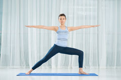 Warrior yoga asana Stock Photography
