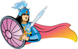 Warrior young viking character. Royalty Free Stock Photo