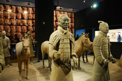 Warriors. The photo was taken at Terracotta Warriors in xian china Royalty Free Stock Image