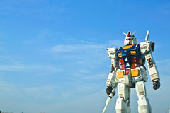 The Warriors-2. In shizuoka hobby show, Gundam attempted a realism in the robot design and weaponry, by running out of energy and ammunition or breaking and Royalty Free Stock Photo