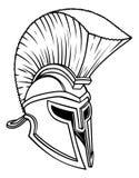 Ancient Greek Spartan Helmet vector illustration