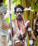 Warriors Asmat tribe. Royalty Free Stock Photo