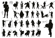 Warriors collection. Vector Stock Photos