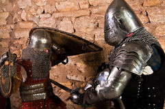 Warriors fighting. Photo of knights who fight Stock Photos