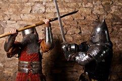 Warriors fighting Stock Images