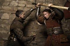 Warriors fighting Royalty Free Stock Photo