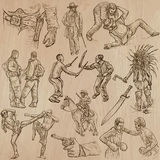 Warriors - an hand drawn vector pack. Royalty Free Stock Photo