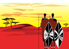Warriors_masai Stock Photos