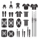 Warriors series - Roman army equipment vector Stock Images