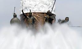 Warriors, Statue of Alexander the Great. Statue of Alexander the Great, Skopje Royalty Free Stock Image