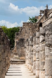 Warriors Temple Chichen Itza Mexico Royalty Free Stock Photos