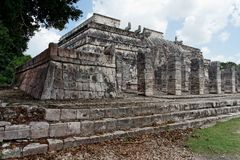 Warriors Temple Chichen Itza Mexico Royalty Free Stock Image