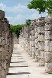 Warriors Temple Chichen Itza Mexico Stock Image