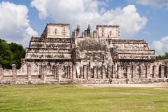 Warriors Temple Chichen Itza Mexico Royalty Free Stock Images