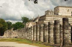The warriors' temple in Chichen Itza, Mexico Stock Image