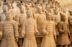 Warriors. Terracotta Warriors in Chinese XiAn Stock Image