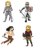 Warriors from various culture set 4 (vector) Stock Images