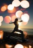 Warriro II yoga pose royalty free stock images
