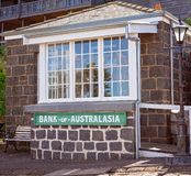 Bank Of Australasia at Flagstaff Hill Maritime Museum Australia. WARRNAMBOOL, VICTORIA, AUSTRALIA - APRIL 16TH 2019: Flagstaff Hill Maritime Museum, exterior of stock images
