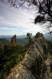 Warrumbungle National Park. The Breadknife rock formation in the Warrumbungles National Park Stock Image