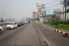 Worrying air quality in Chiangmai. Air quality in Chiangmai is very poor in March. There was a smell of burning in the air. People have to wear anti-smog masks royalty free stock photo