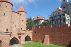 The Warsaw's Barbican. The remnants of Warsaw's defensive walls, erected in 1548 by Giovanni Batista Venetian. The Warsaw's Barbican is remaining relics Royalty Free Stock Photos