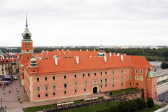 Warsaw. Royal castle in Warsaw - capital city of Poland royalty free stock photos