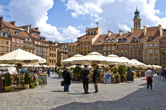 Warsaw. This photo is toke in the old town market place in the Warsaw's Old Town, the oldest historic district of the capital (UNESCO world heritage site Royalty Free Stock Photography