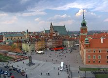 Warsaw. Old town in Warsaw, capital of Poland Royalty Free Stock Image