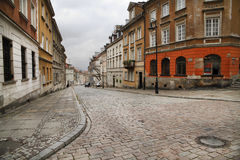 Warsaw. Street in the old town of Warsaw - capital city of Poland Stock Images