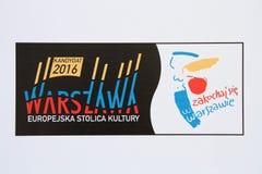 Warsaw 2016 stock image