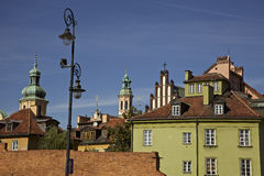Warsaw. View of the old town section of Warsaw with the colorful building and churches Stock Image