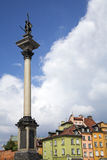 Warsaw. Sigismund column in warsaw castle square in old town Stock Image