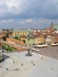 Warsaw. Aerial view of Zamkowy Square, Castle Square in the old town, Warsaw, Poland Royalty Free Stock Images