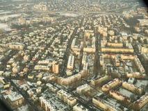Warsaw, aerial photo. Aerial view of polish city Warsaw stock photo