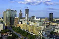 Warsaw aerial view Royalty Free Stock Photos