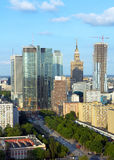 Warsaw aerial view Royalty Free Stock Photo