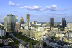 Warsaw aerial view Stock Images
