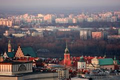 Warsaw, aerial view Royalty Free Stock Photo