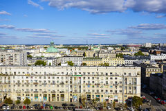 Warsaw, aerial view of the city Royalty Free Stock Photos