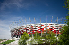 WARSAW - APRIL 29: Construction site of Poland's National Stadiu Stock Photography