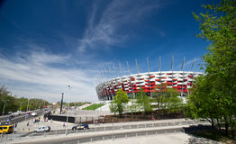 WARSAW - APRIL 29: Construction site of Poland's National Stadiu Stock Image