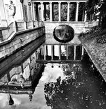 Warsaw architecture. Artistic look in black and white. Stock Photography