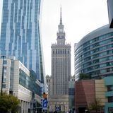 Warsaw architecture royalty free stock photography