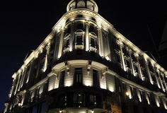 Warsaw August 20,2014- Building by night from Warsaw in Poland stock images